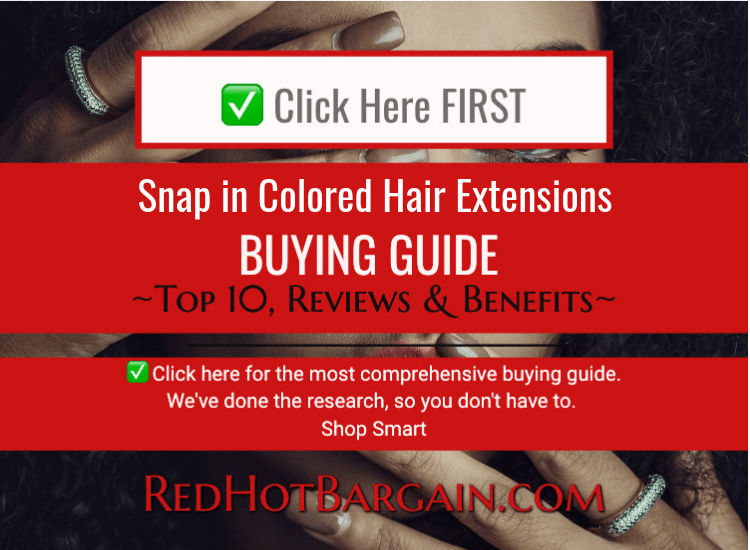 Snap in Colored Hair Extensions