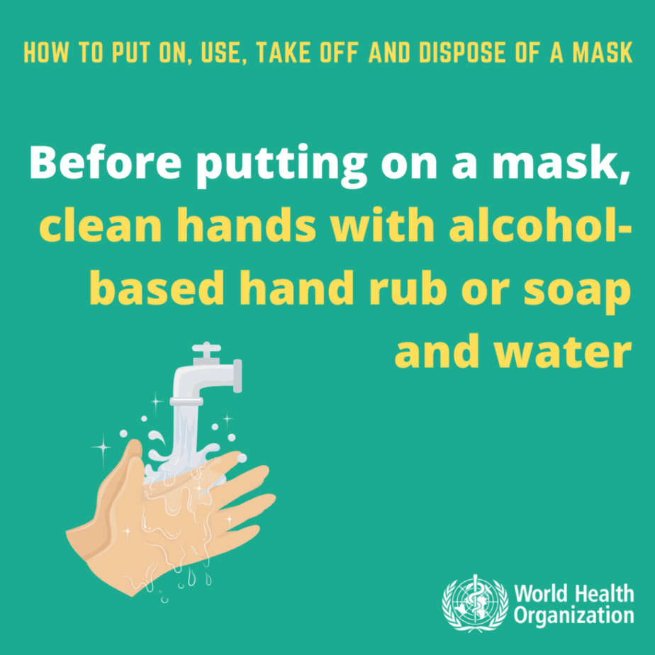 how to use mask WHO 1