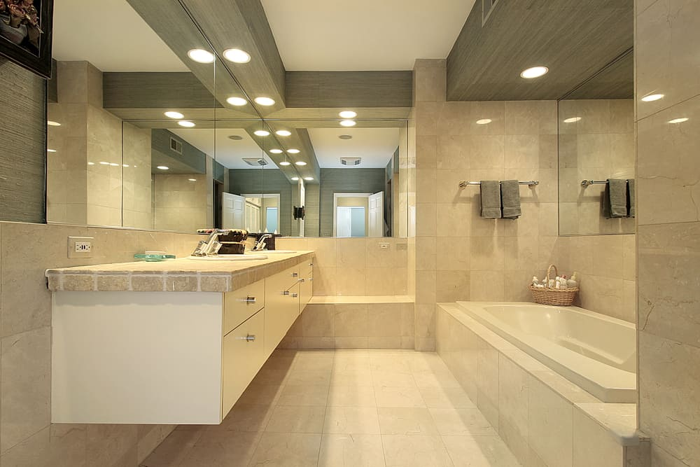 What color light is best for a bathroom